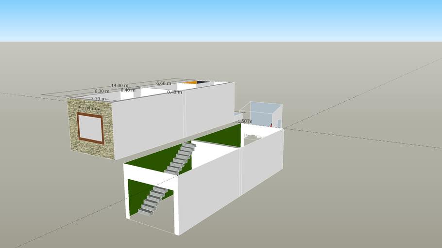 Plano Garage Dos planta