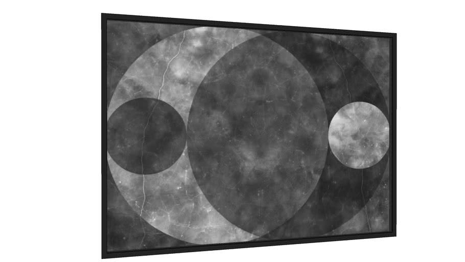 Quadro Quatro Luas 1 - Galeria9, por Prix Arts