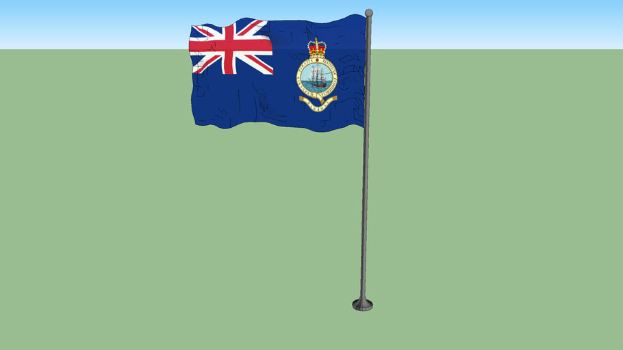 Flag of the British Colony of the Bahama Islands (1964-1973)