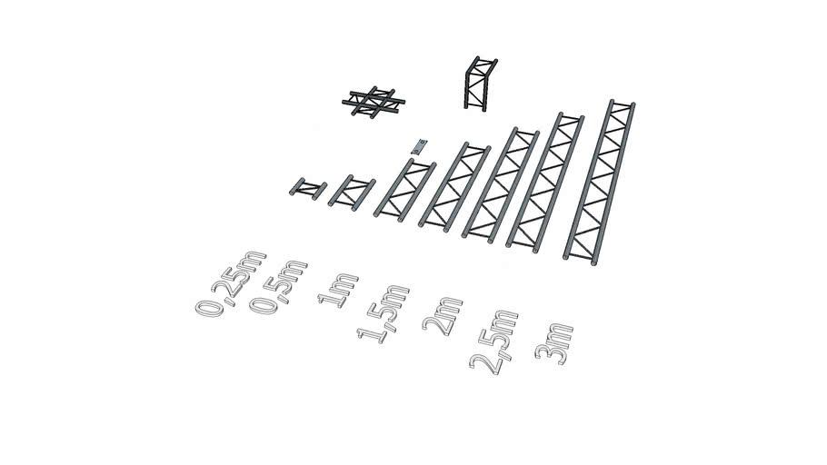 Truss 2 points  - Structure aluminium echelle