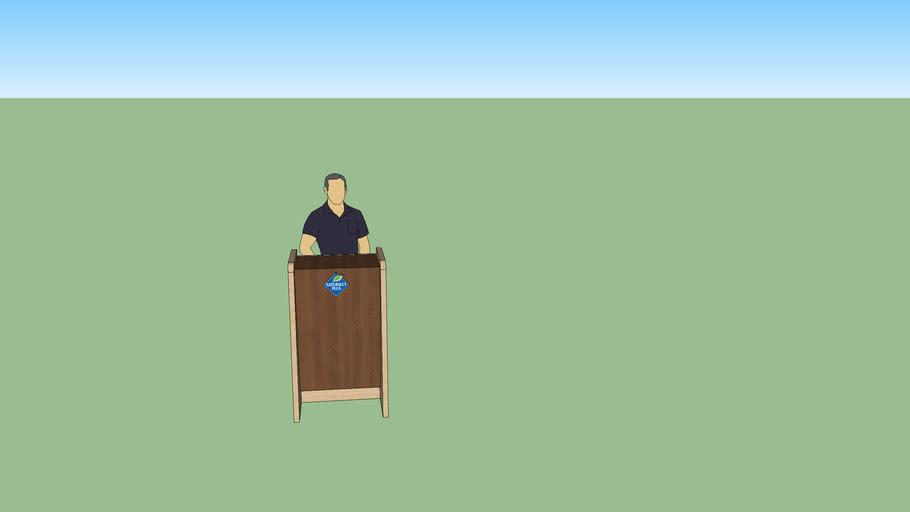 podium speech stand
