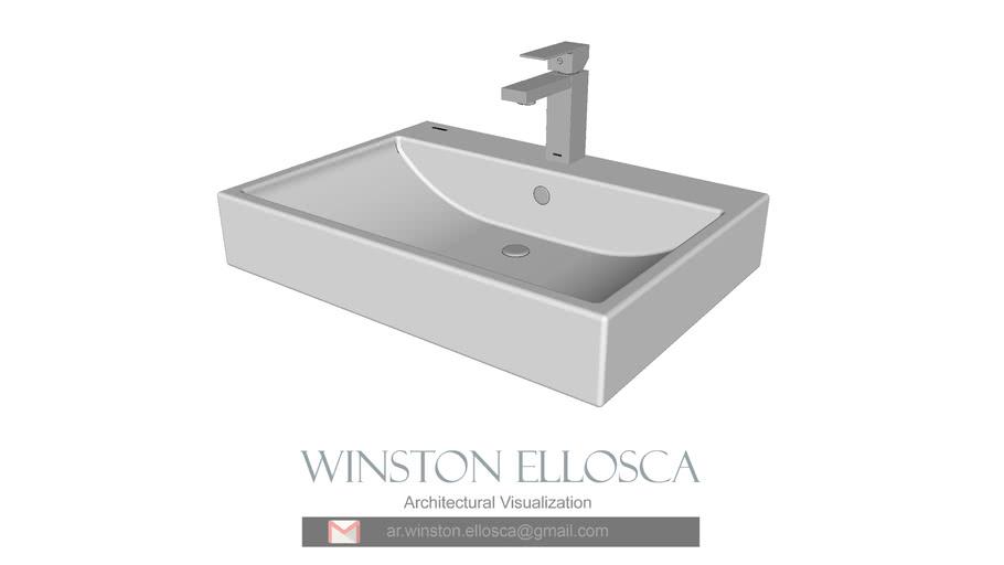Cascade Washbasin 610x440x130