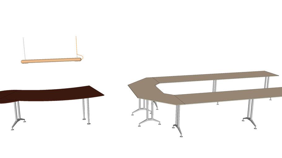 Office table & light