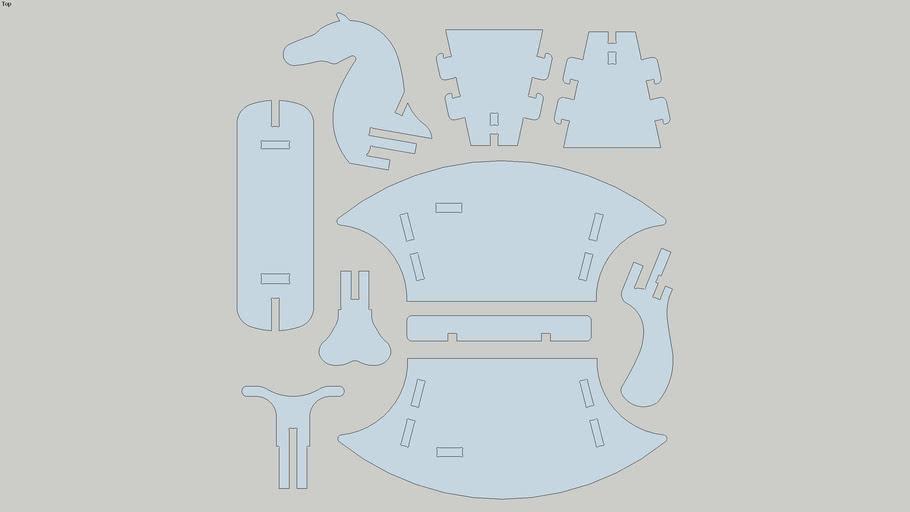 Cavalinho de Balanço - puzzle 3D (Rocking horse)