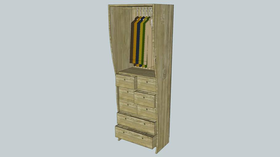 Wardrobe chest of draws