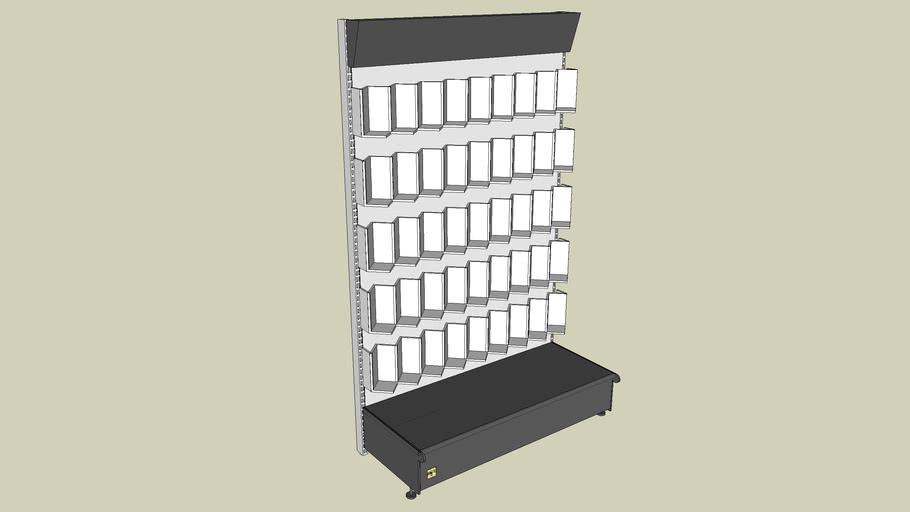 Estanteria para libreria con estantes en zig zag