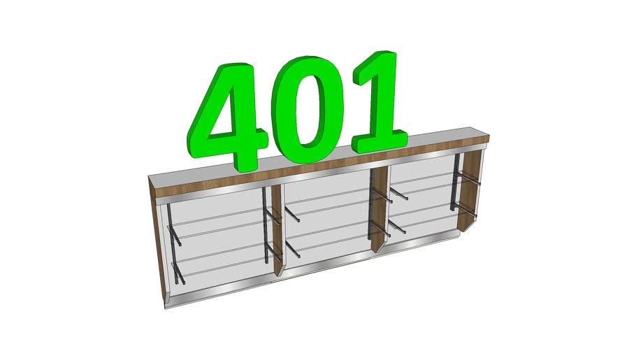 Kit-401-Painel Espelho e Prateleiras de Vidro