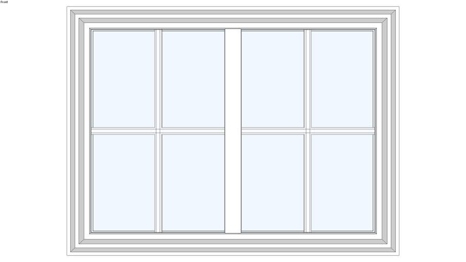 Tuscany® Series 3-Step Picture Window 2-Lites Horizontal