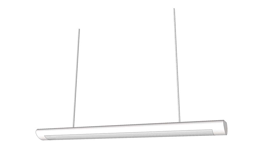 Fluorescent hanging ceiling lamp 48 inches version 1