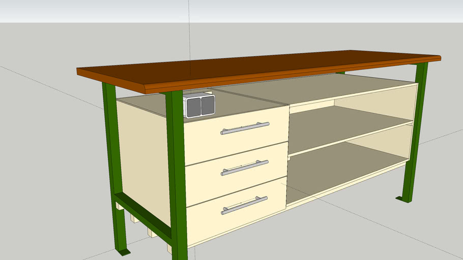 Stabiler Schubladenschrank für Werkzeug