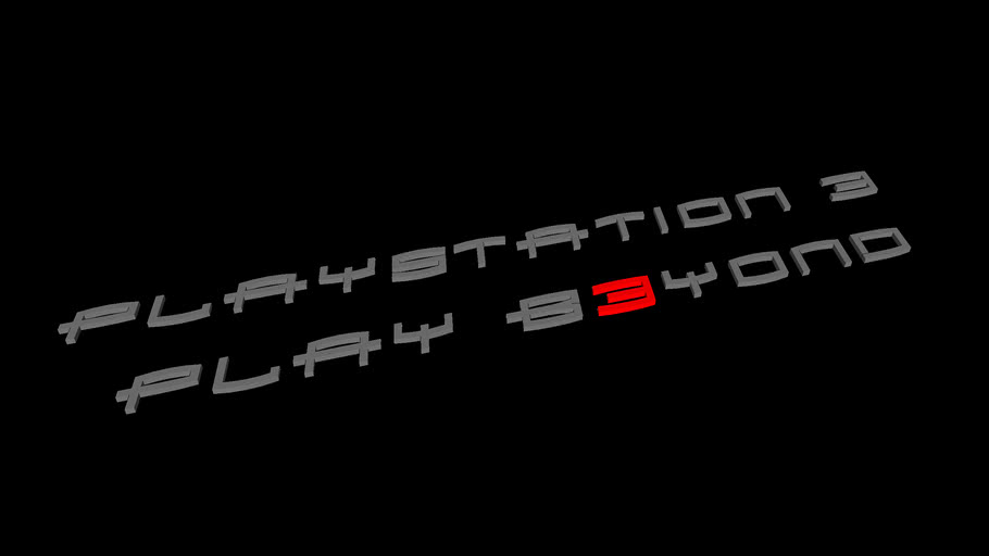 Playstation 3 logo and catchphrase