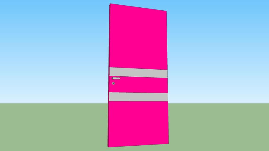Modern pink door