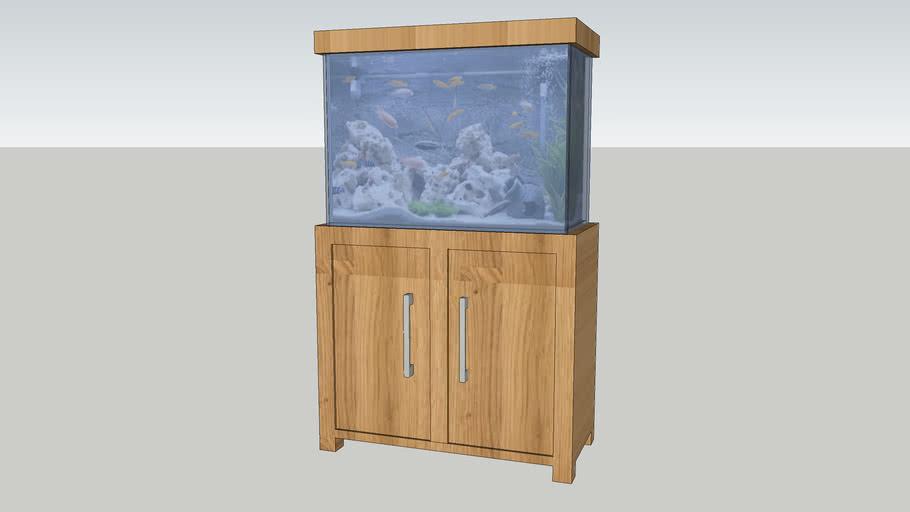 Aqua Oak Fish Tank Tropical Aquarium