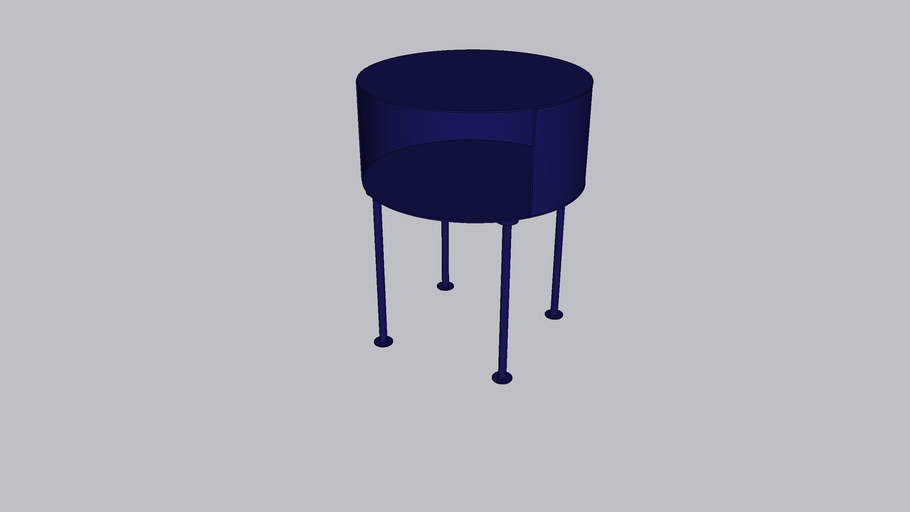 Silo_Bedside table_Monaco Blue