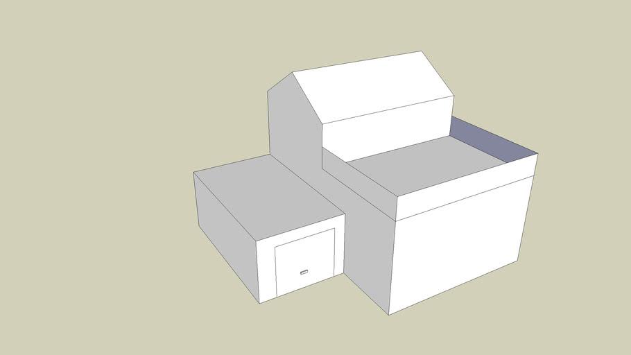 basis modern huis met garage