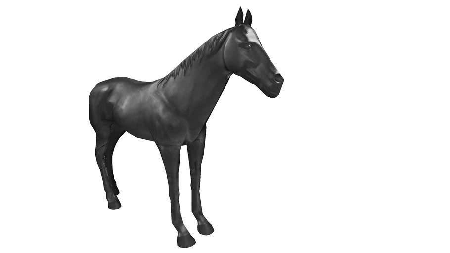 37775 Deco Figurine  Horse Black