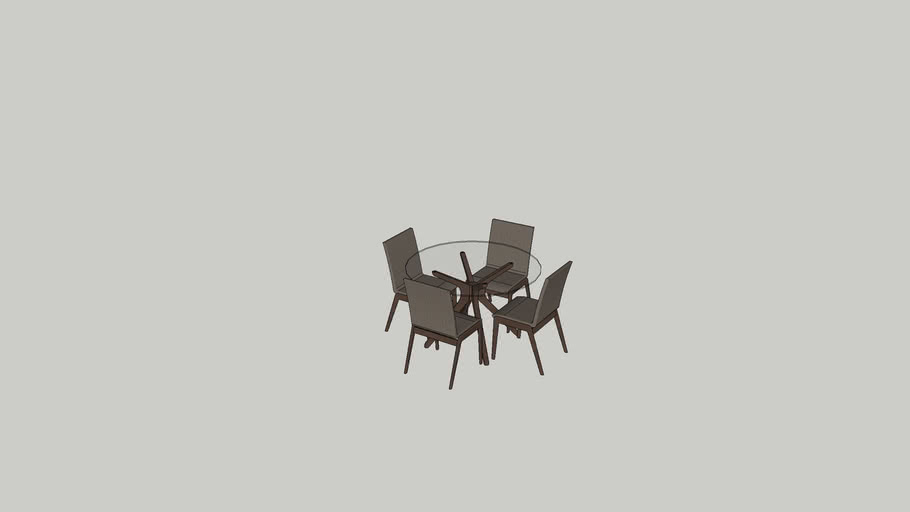 Small Round Glass Dining Room Table 3d Warehouse