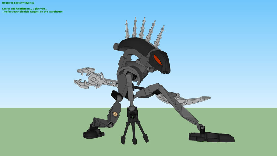 Bionicle Rahkshi Vorahk___SKETCHYPHYSICS RAGDOLL ((**UPDATE**))