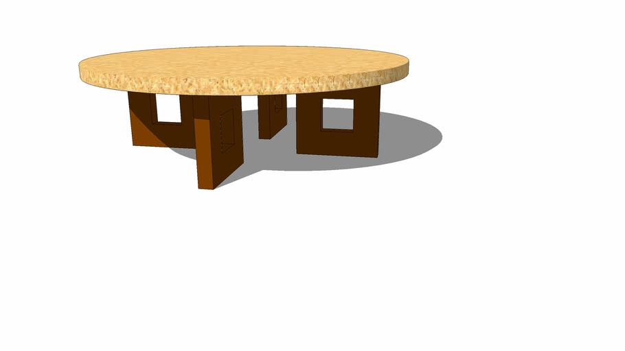 Paul Frankl round coffee table