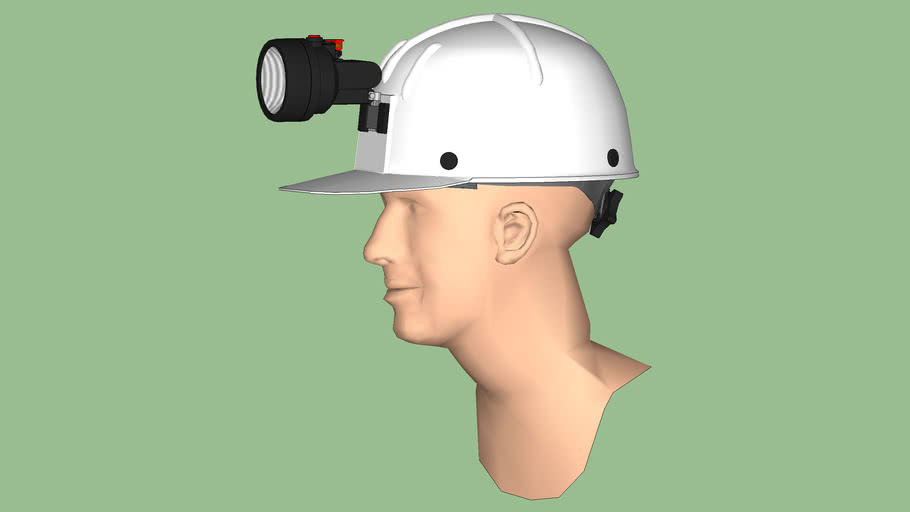 Safety First Series - Safety Hard Hat - Comfo Cap Miners Cap Style w/ Light