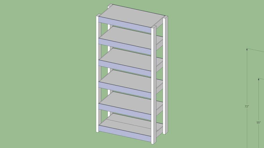 Easy to Build Heavy-Duty Wood Shelving unit
