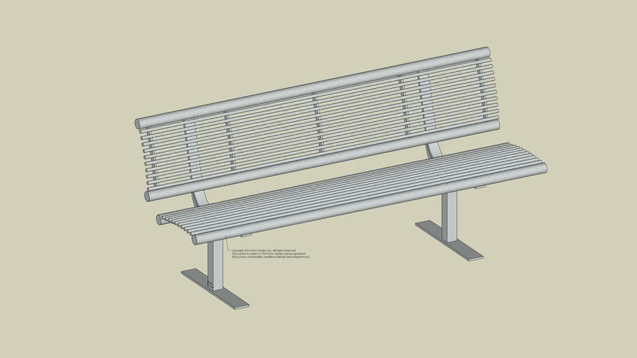 FS-50 Streetsites™ 6ft Steel Rod Bench (Surface Mount)