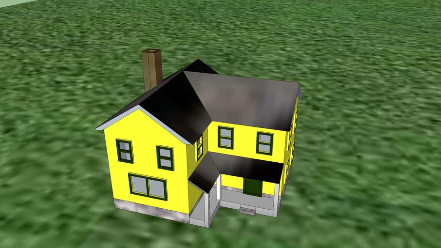 N-scale house 1