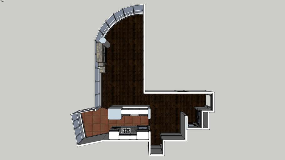 kaih kiving room & kitchen for 3505