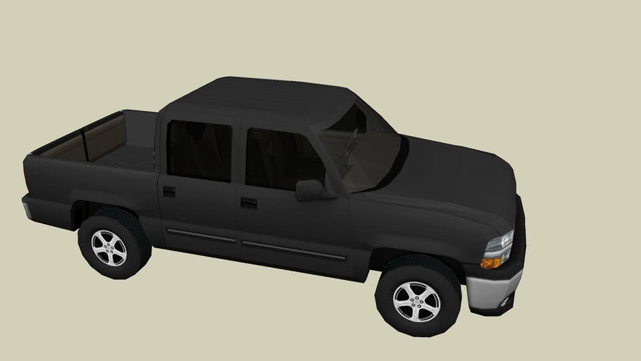 Chevy Silverado 4-door pick-up truck