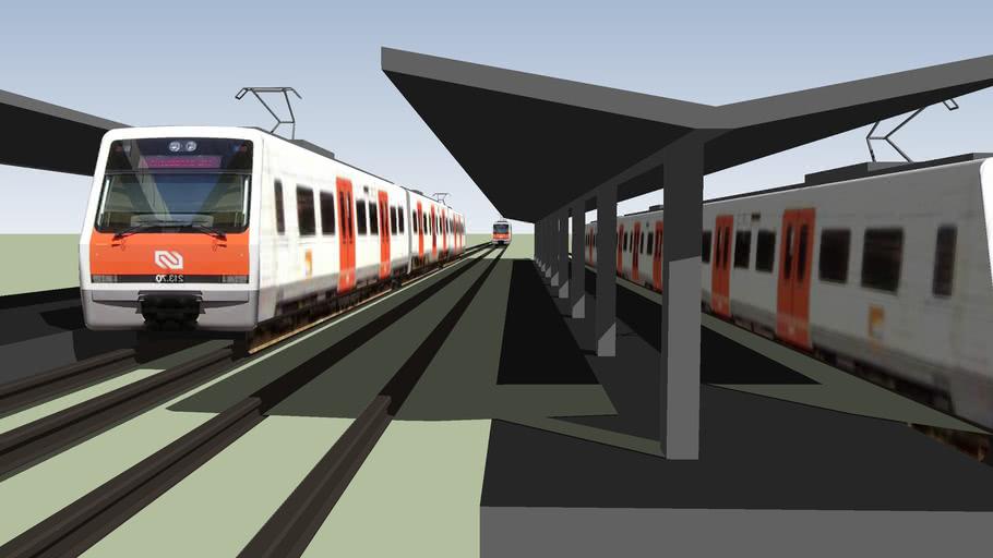 Estació de tren FGC d'Olesa de Montserrat