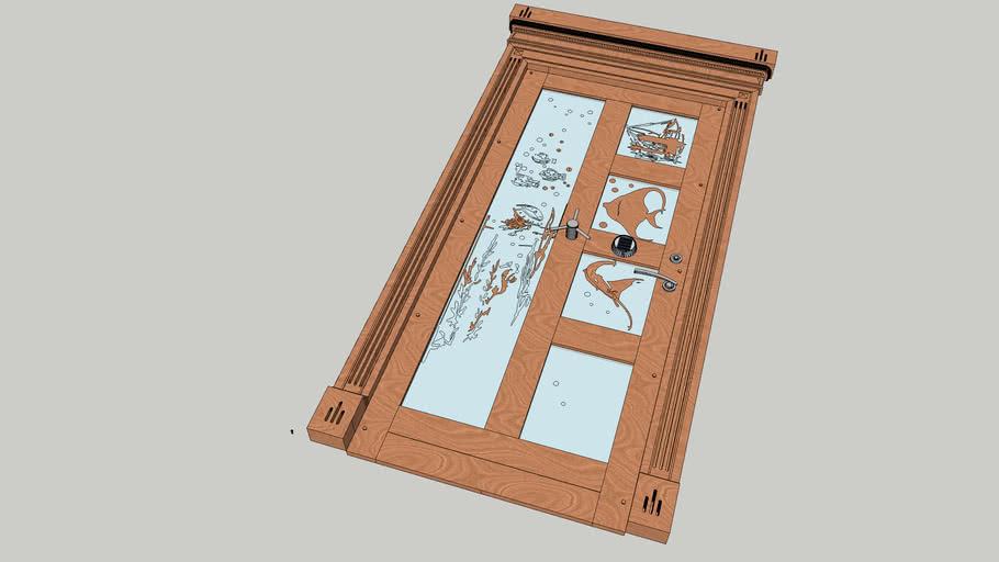 Дверь с антамблементом