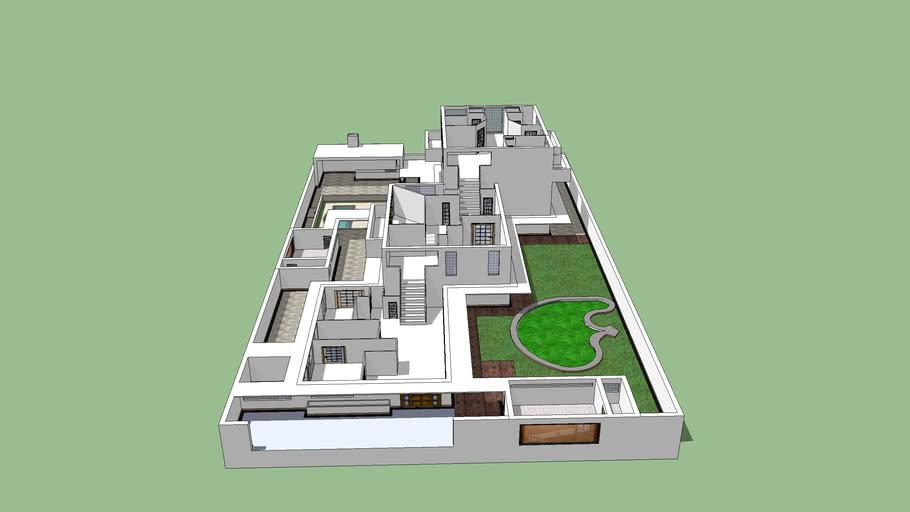 Modelo de casa de alto padrão