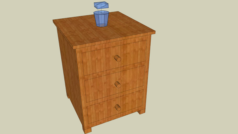 Table de chevet à tiroir