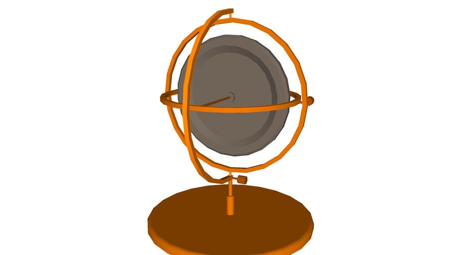 Brass gyroscope in gimbal