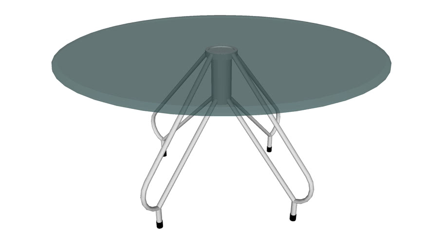 Coffee Table Glass Round - Detailed