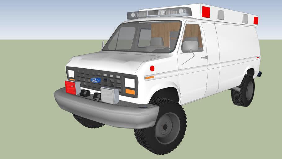 type 2 ambulance ford econoline f 150 model 1986