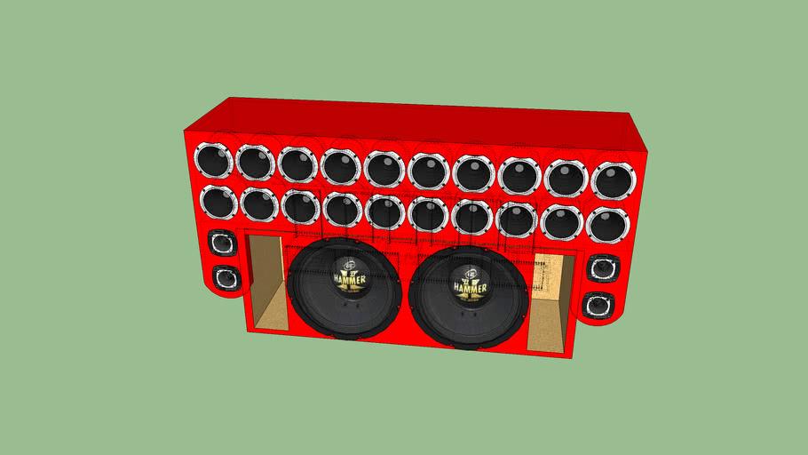 caixa de corneta com 2 sub eros