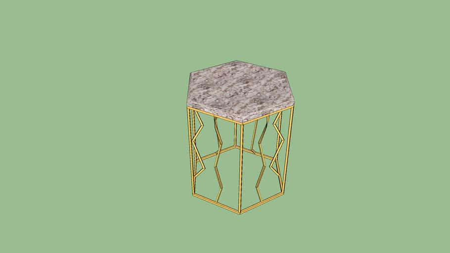 desk โต๊ะหกเหลี่ยม หินอ่อน