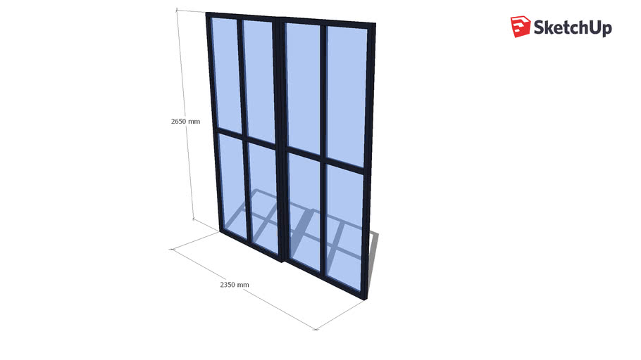 glazen deur raaf