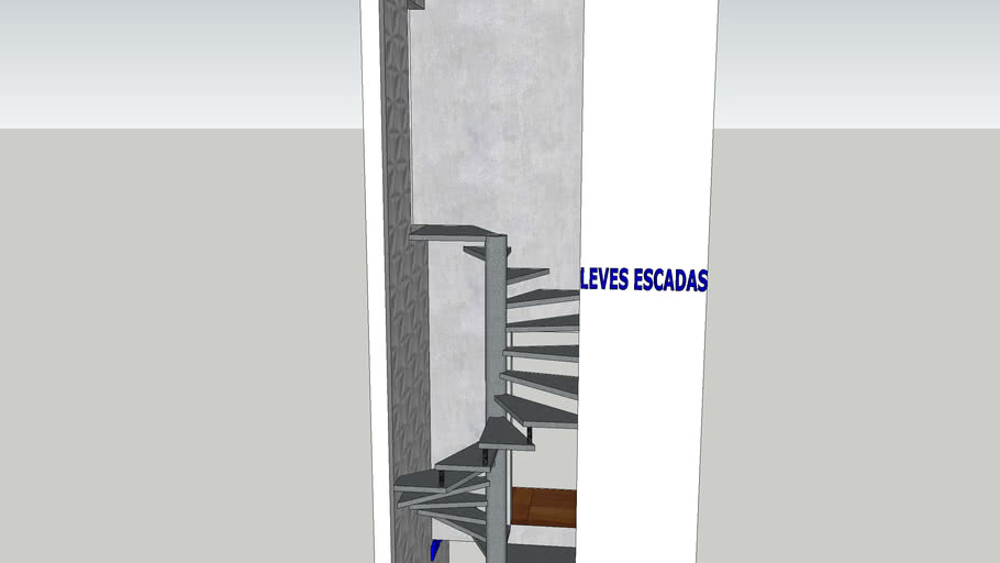 escada caracol 2 piso