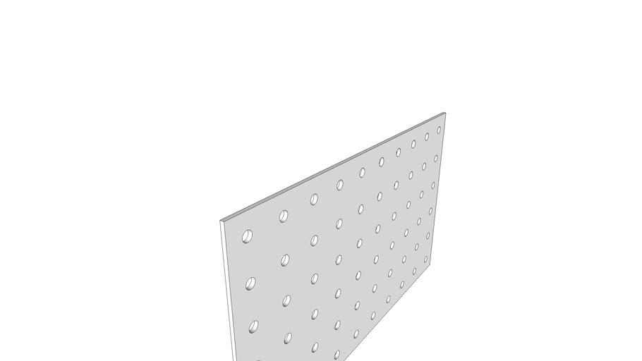 plaque platine perforée 60 trous D5