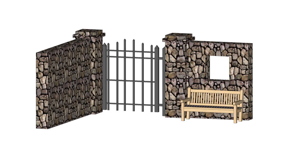 STONE AND IRON GATE ENTRY