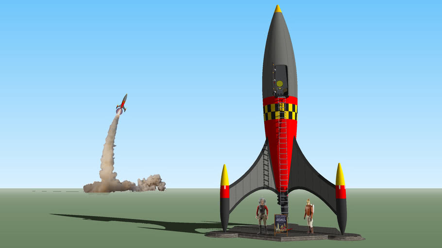 Vintage Rocket Ride to Space