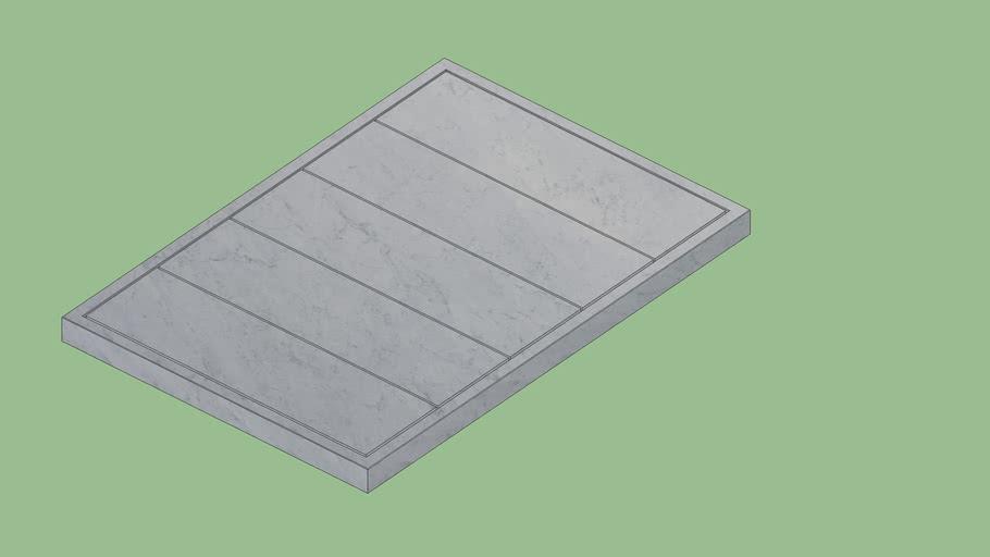 Filo Raised 5   108 Shower Tray Bianco Carrara Sandblasted