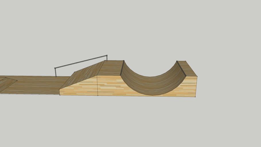 half pipe with rail and funbox