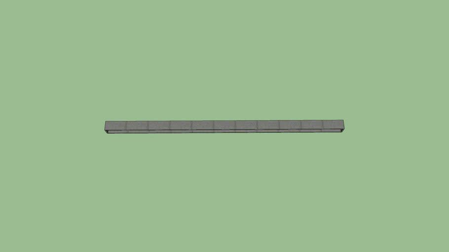 Stalen H Bint met eind flens 5000 X 200 X 200 mm