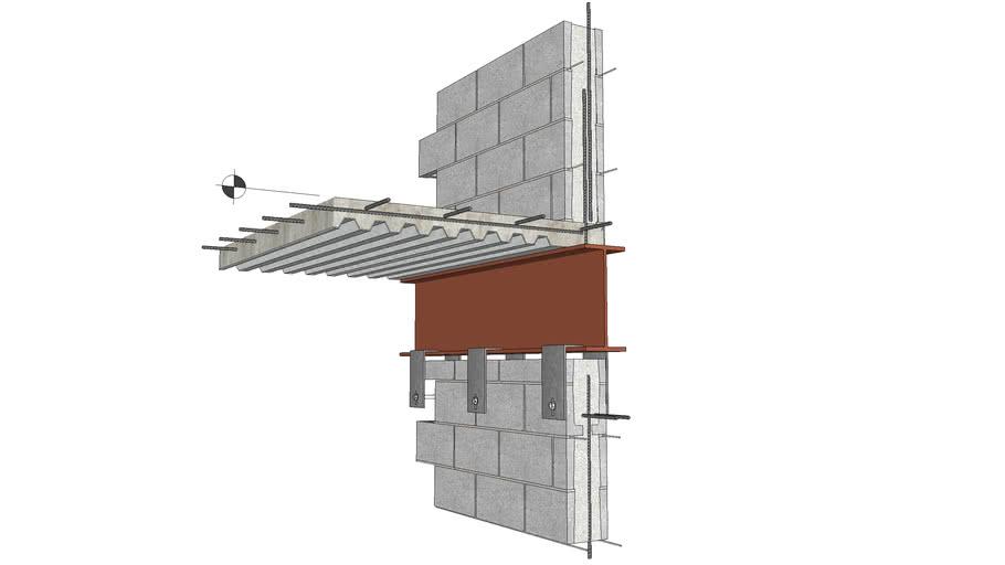 Hybrid Masonry & Steel Floor Detail, Hybrid Type I & IIA