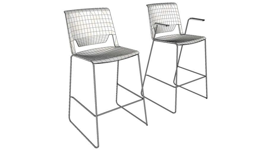 haworth very wire stool