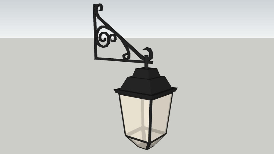 Low Poly Spanish Colonial Lamp