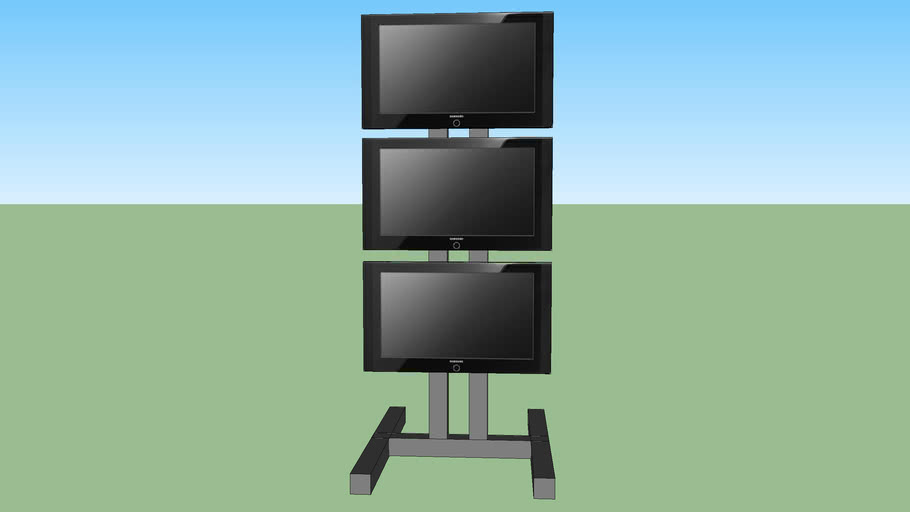 3 lcd video on stand
